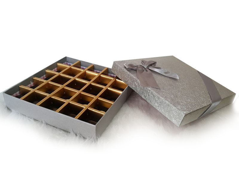Silver Box (25 Pcs) by Chocolates with Love