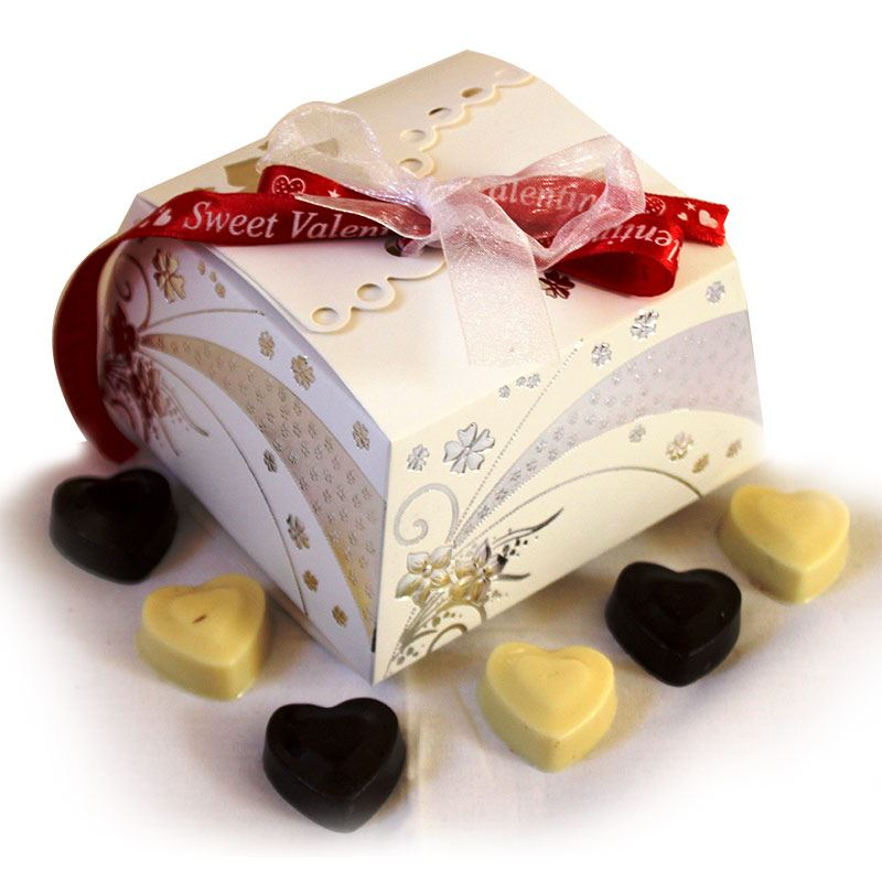 White Silver Box (12 Pcs)  by Chocolates with Love