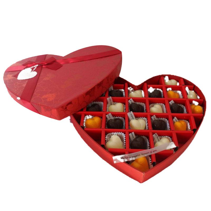 Heart Box (25 Pcs) by Chocolates with Love