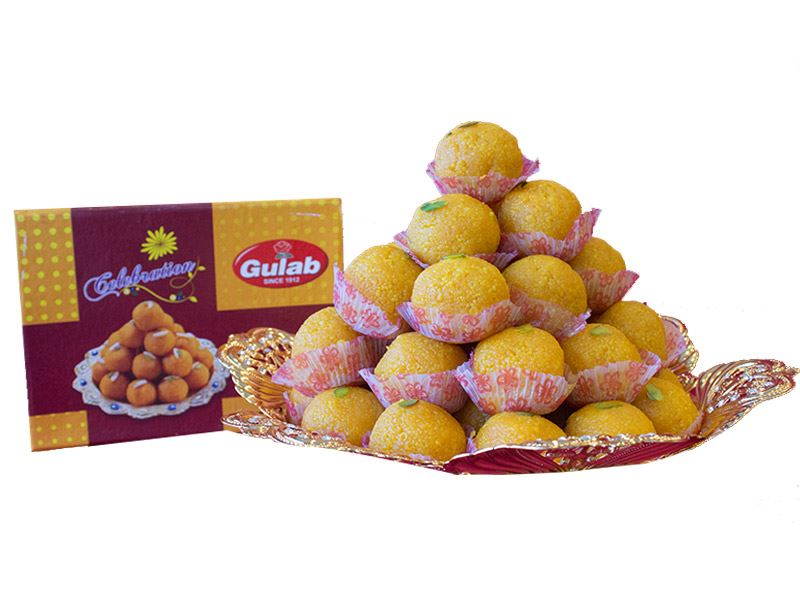 Motichoor Laddoo (12 Pcs) from Gulab