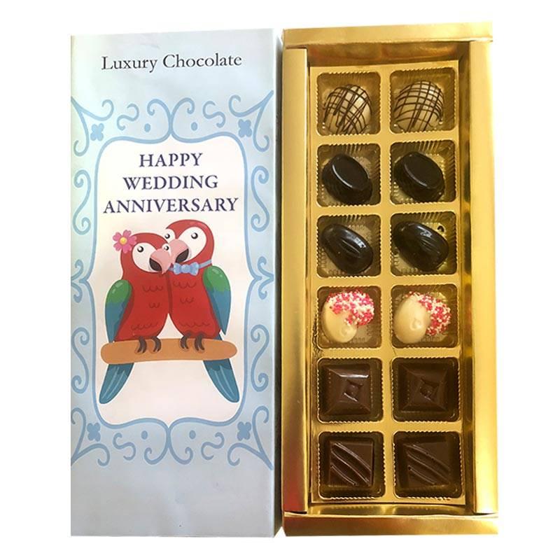 Wedding Anniversary Hand-Crafted Luxury Chocolate Box by Shokolade
