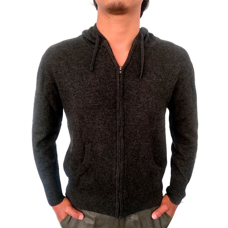 Mens Full Zipped Hooded Sweater