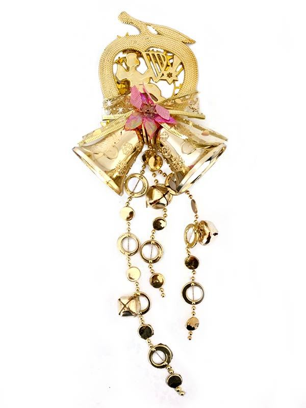 Gold Jingle Bell Ornaments
