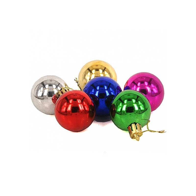 Multi Color Plastic Ball Ornaments (Small)