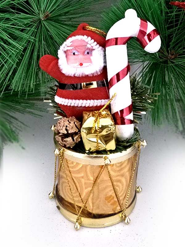 Santa with Candy Cone Ornaments