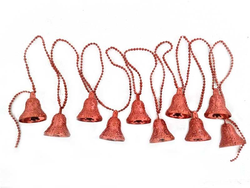 Red Plastic Jingle Bell Decorations