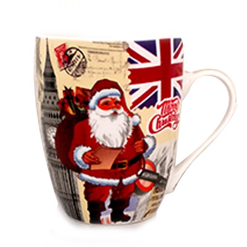 Red Santa Ceramic Mug