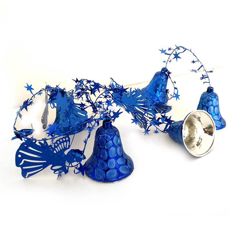 Blue Jingle Bell Garland