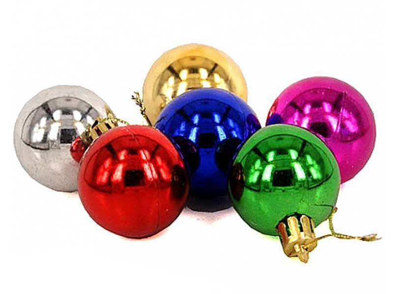 Multi Color Plastic Ball Ornaments (Large)