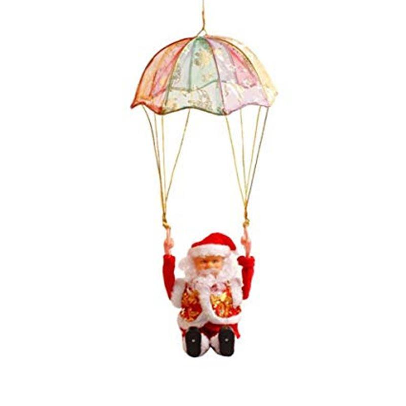Tumbling Parachute Santa