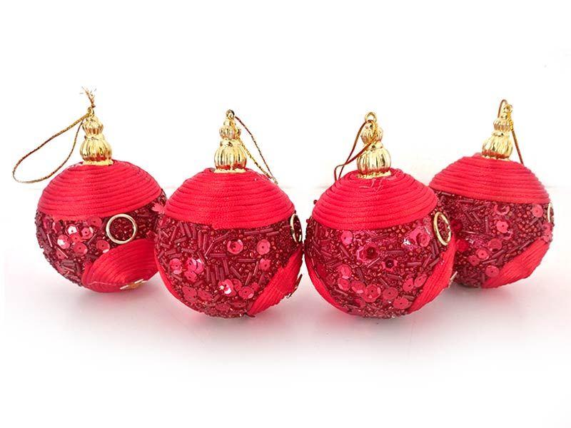 Red Design Ball Ornaments