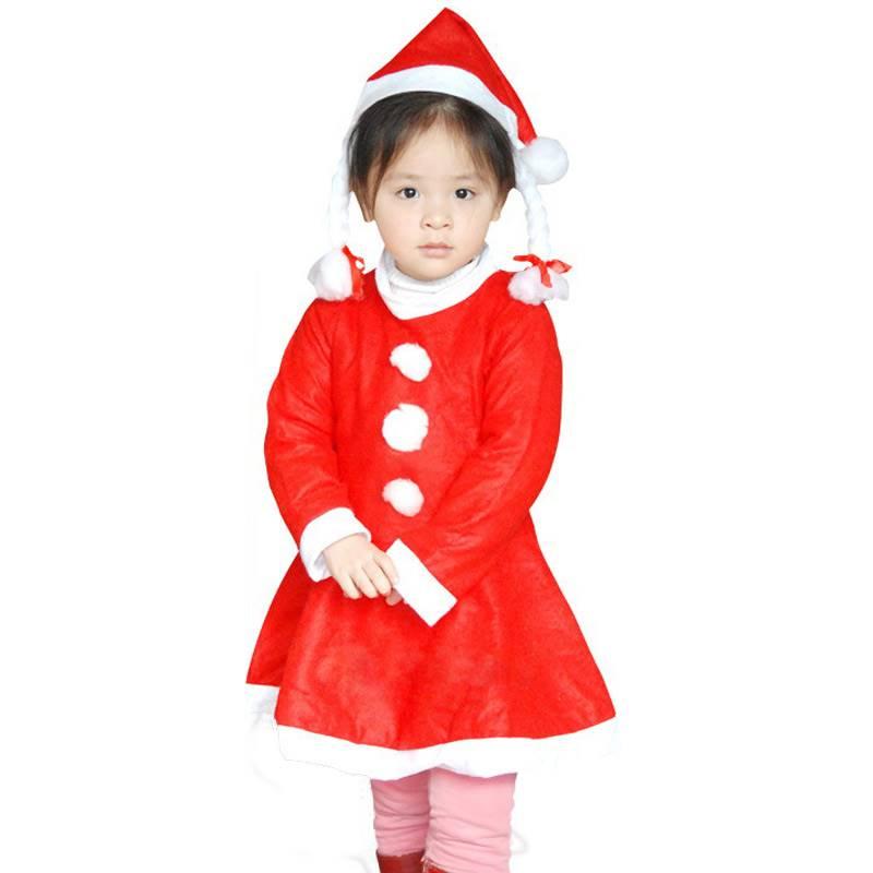 Santa Claus Costume for Girls (0-3 Years)