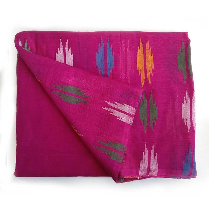 Purbeli Dhaka Pink Cotton Saree