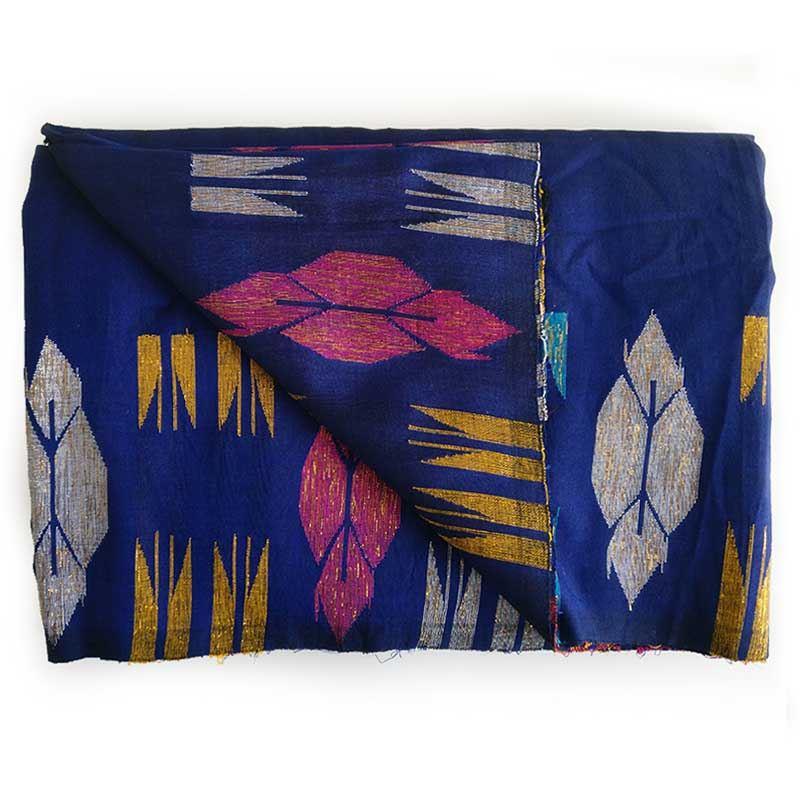 Purbeli Dhaka Royal Blue Silk Saree