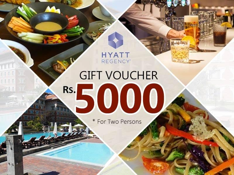 Gift Voucher for 2 Persons from Hyatt Regency