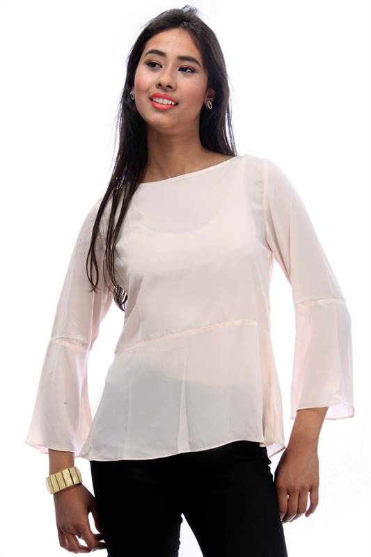 Bella Jones Cream Full Sleeve Blouse (SA012)