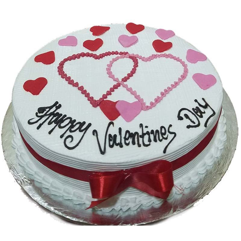 Happy Valentines Day Vanilla Cake (1 Kg) from Chefs Bakery