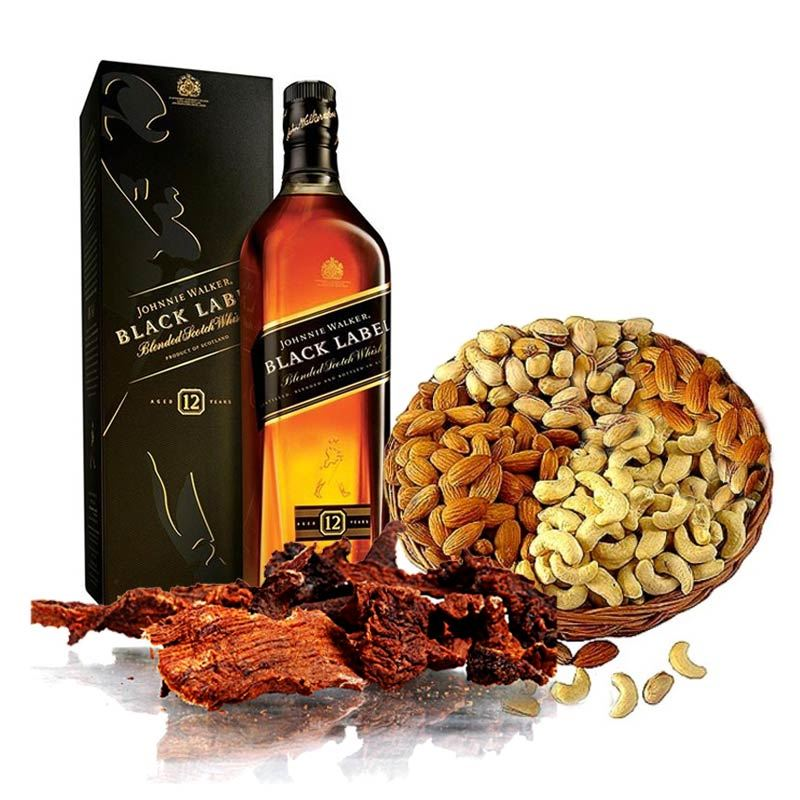 JW Black Label, Dry Meat and Masala Basket