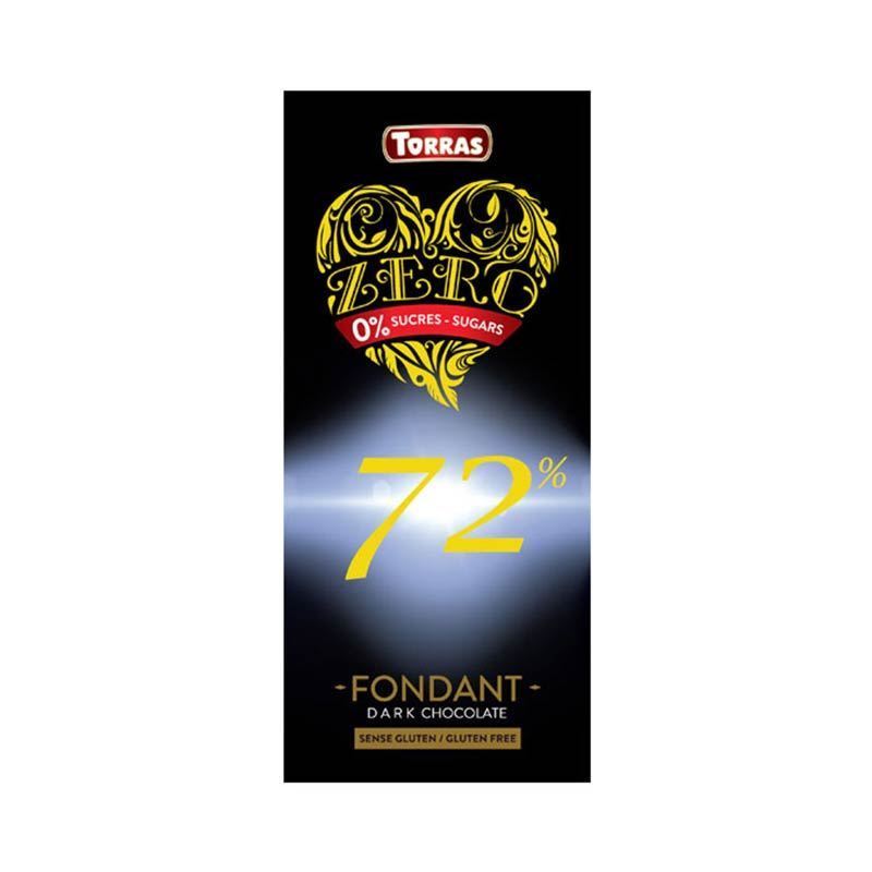 Torras 72% Zero Dark Chocolate (100g)
