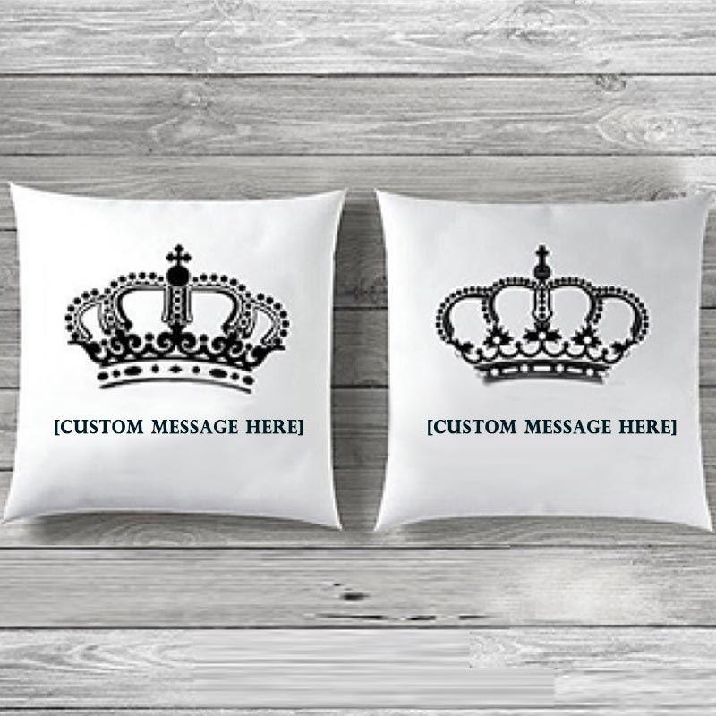 Custom Message Crown Cushions