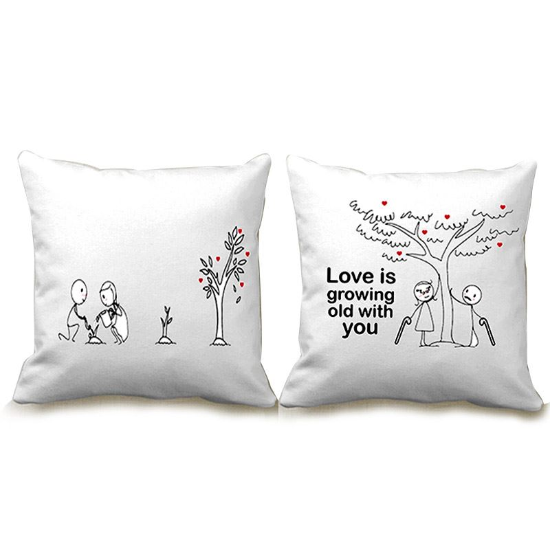 Love is Growing Old with You Couple Cushion