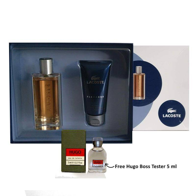 Lacoste Elegance Gift Set for Men - 1 (Free Hugo Boss Tester 5ml)