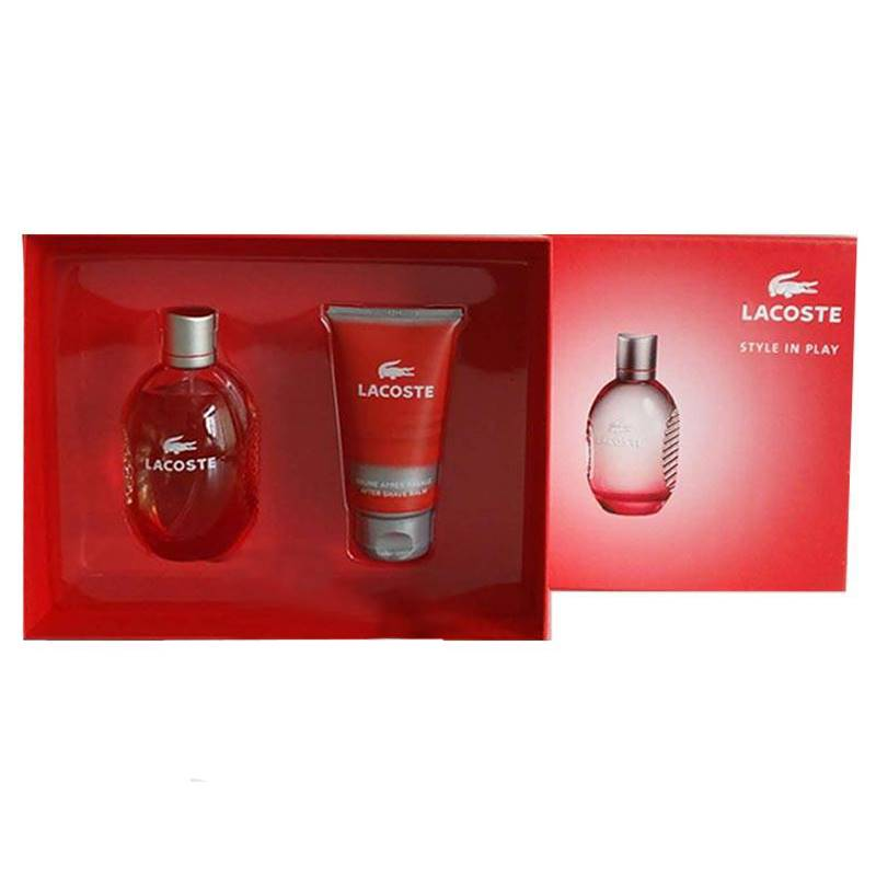 Lacoste Style In Play Gift Set for Men (Free Hugo Boss Tester 5ml)