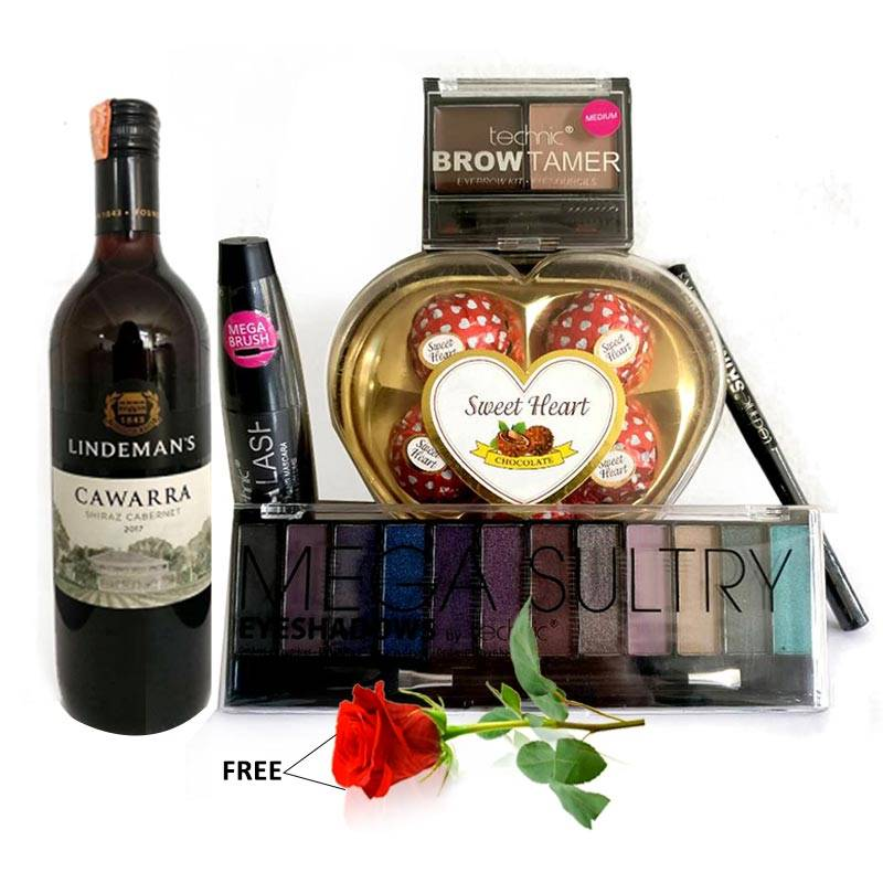 Valentines Technic Makeup Package 4 with Wine and Rose (Free)