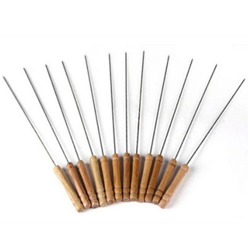 BBQ Skewers w/ Wood Handle - (12 PCS)