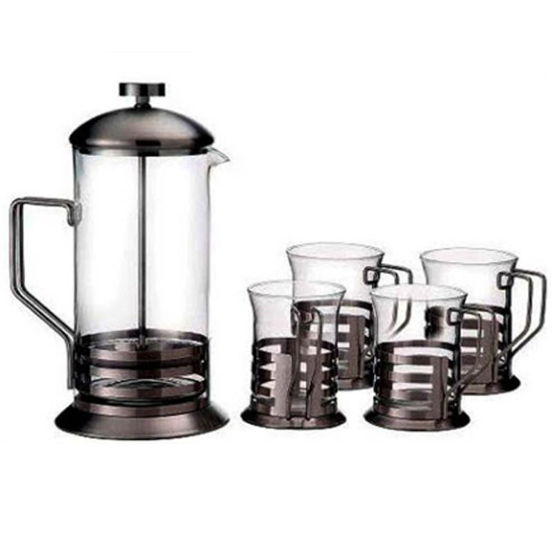 French Coffee Press Maker Set 600 ml + 4 Cups