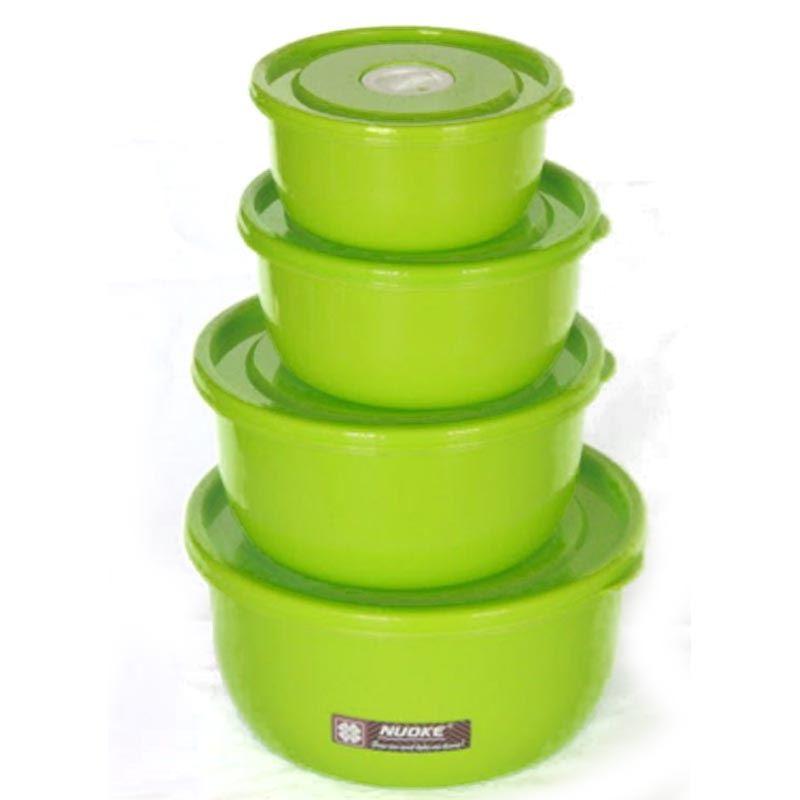 4 Pieces Storage Box (stb-2492) Glossy Round
