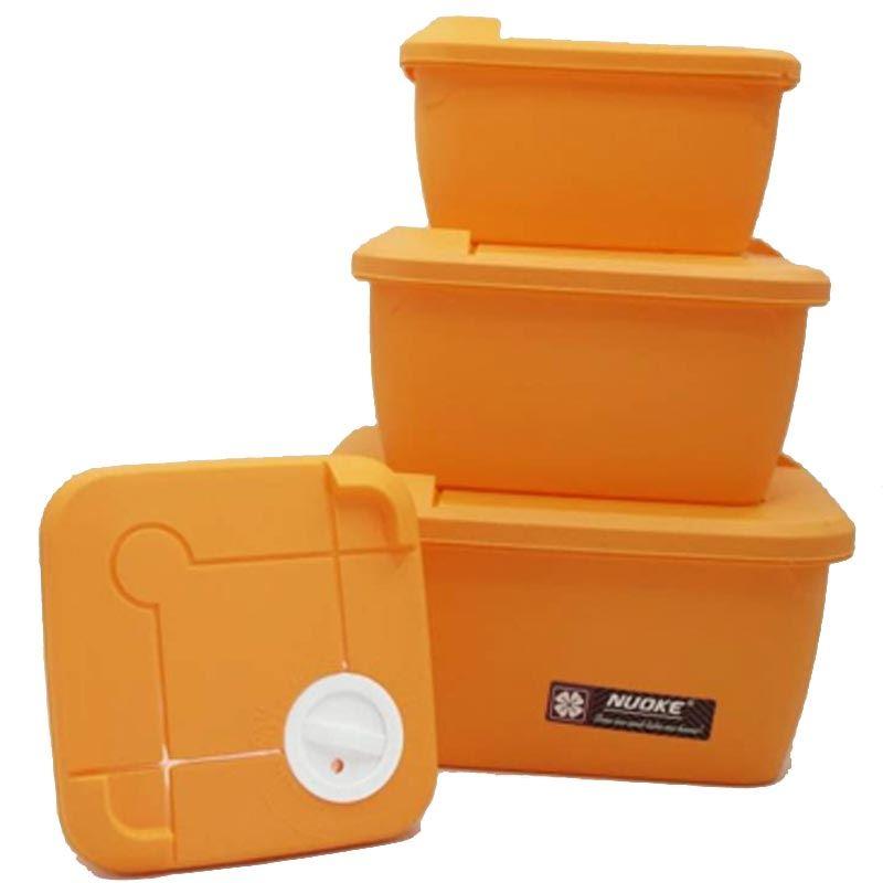 4 Pieces Storage Box (STB-1413) Square Matt