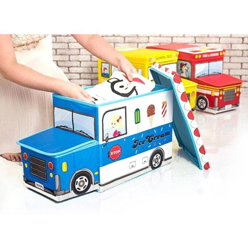 Bus Shape Cloth Storage Box
