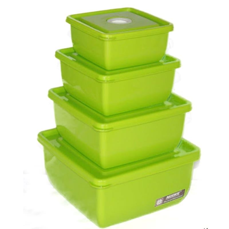 4 Pieces Storage Box STB-2392 Square Glossy