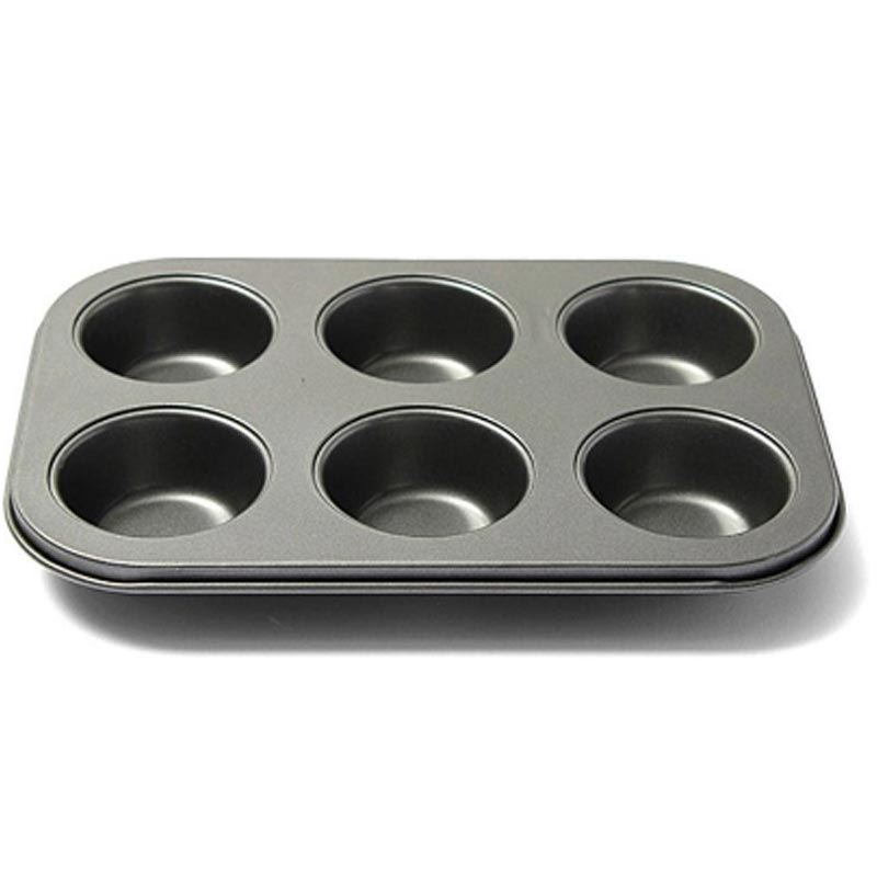 6 Cups Non-stick Cupcake Baking Tray