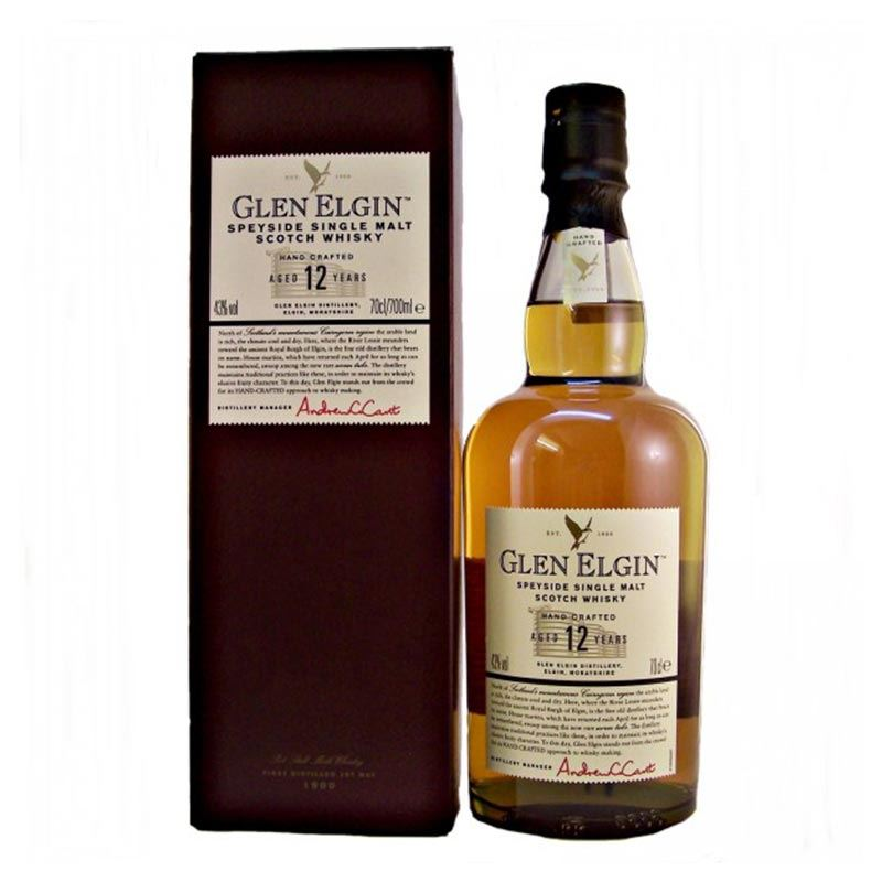 Glen Elgin SpeySide Single Malt Scotch Whisky Ages 12 Years (750ml)