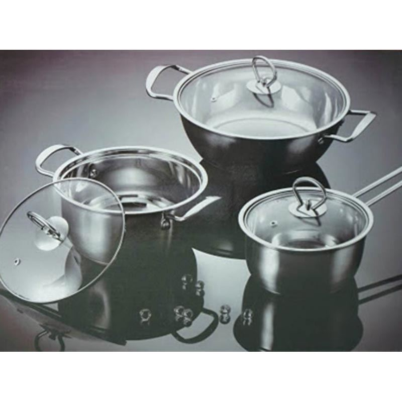 Hestia Stainless Steel Cookware (3 pcs Set)