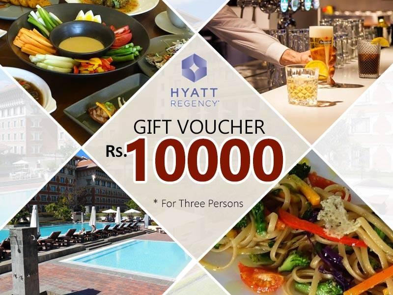 Gift Voucher for 3 Persons from Hyatt Regency