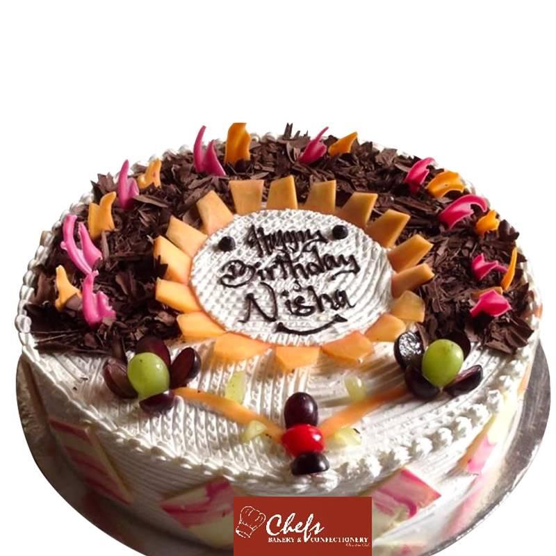 Eggless Black Forest Cake (1 kg) from Chefs Bakery