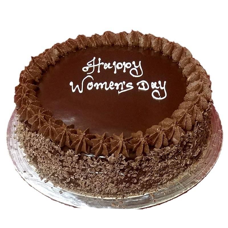 Happy Women's Day Chocolate Cake (1 Kg) from Chefs Bakery