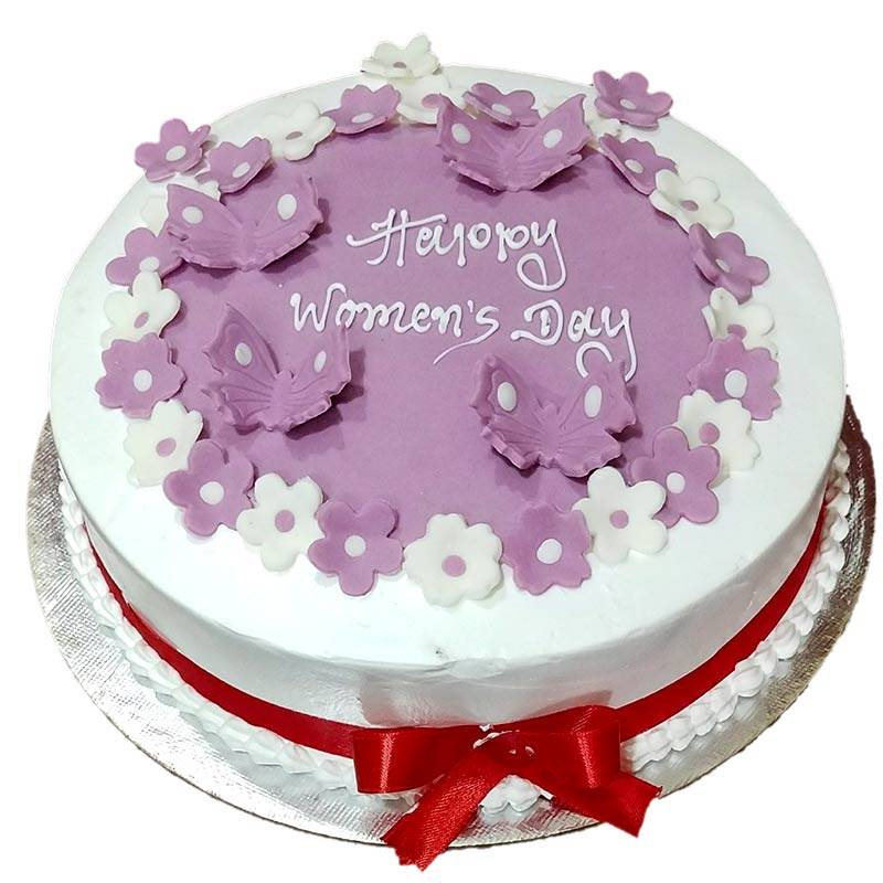 Happy Women's Day Black Forest Cake (1 Kg) from Chefs Bakery