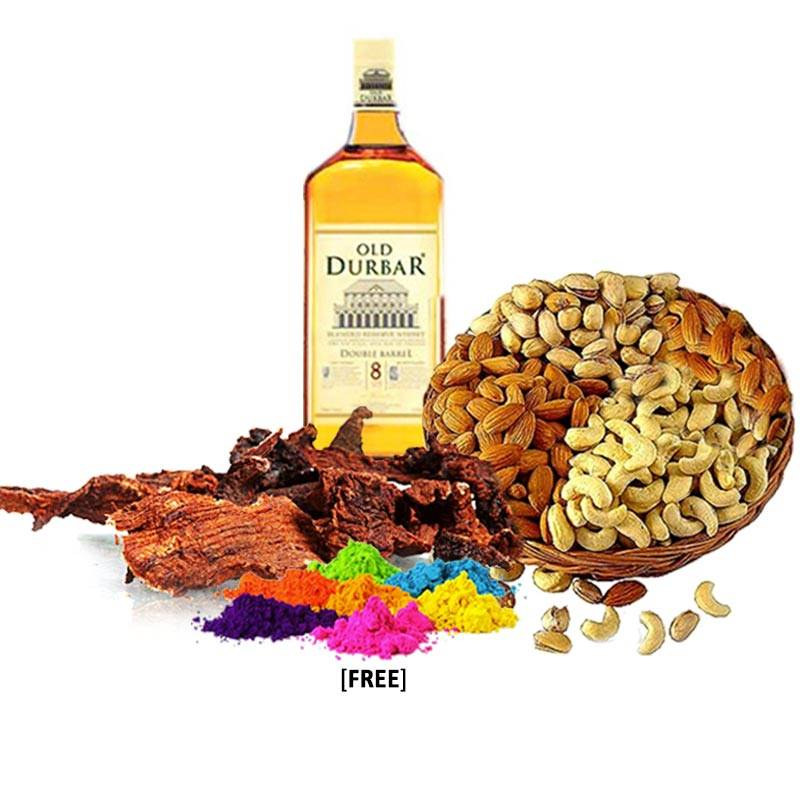 Holi Package with Whisky, Sukuti, Nuts and Colors