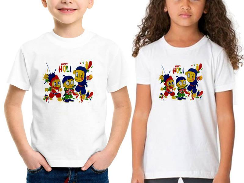 Holi T-shirt for Kids (Qty 1)