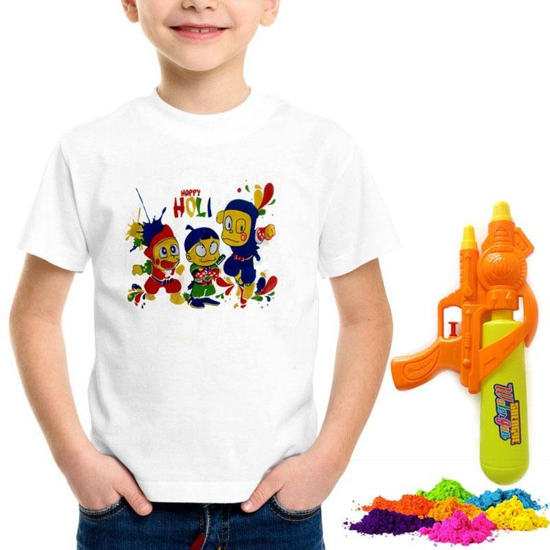 Holi Packages with T-shirt, Pichkari and Colors