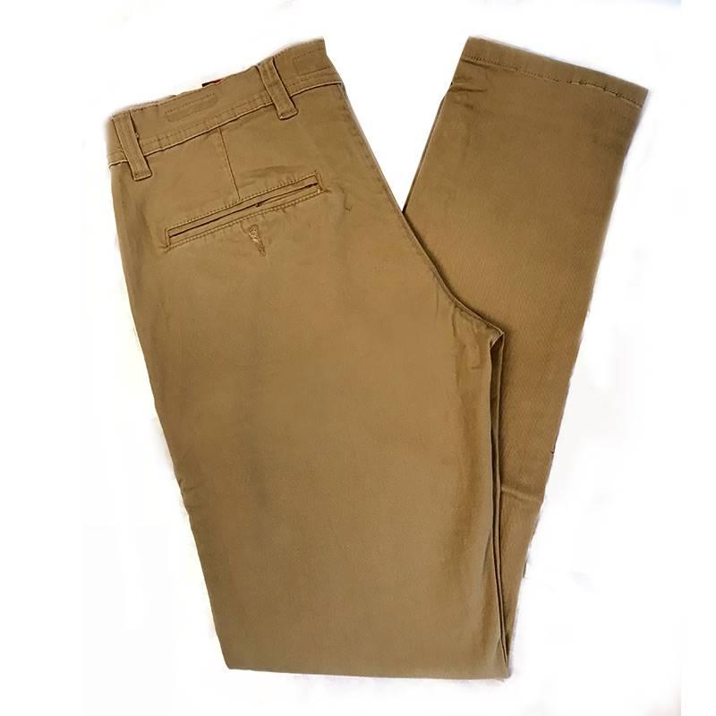 Men's Caramel Brown Cotton Pant- IS017