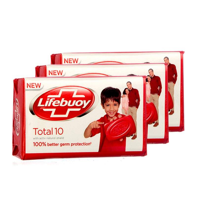 Lifebuoy Total Skin Cleansing Soap Bar (50g) (3p)