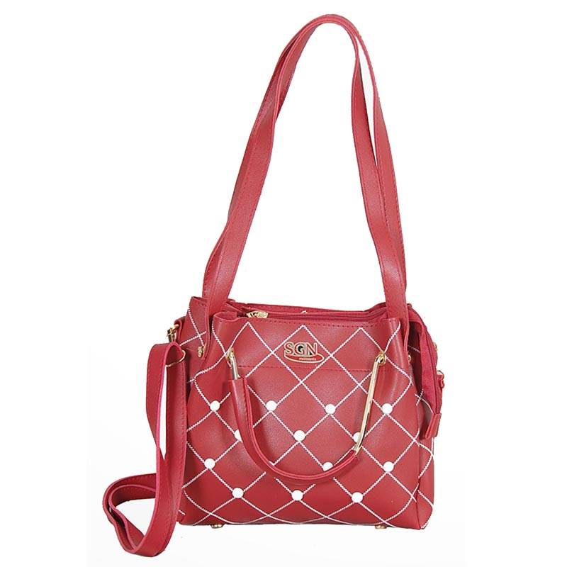 Womens Maroon Cross body Bag (C605) by SGN Moments