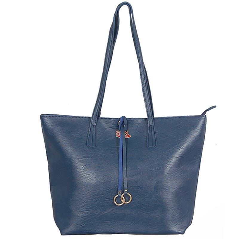 Womens Blue Shoulder Tote Bag (C608) by SGN Moments