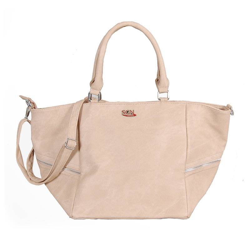 Womens Cream Shoulder Tote Bag (C606) by SGN Moments