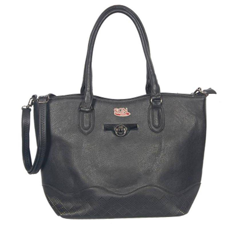 Womens Black Tote Bag (C506) by SGN Moments